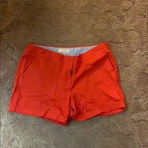 Red j Crew Shorts